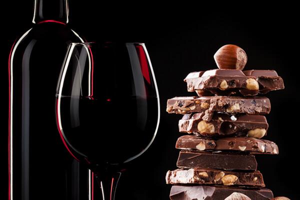 wino i czekolada