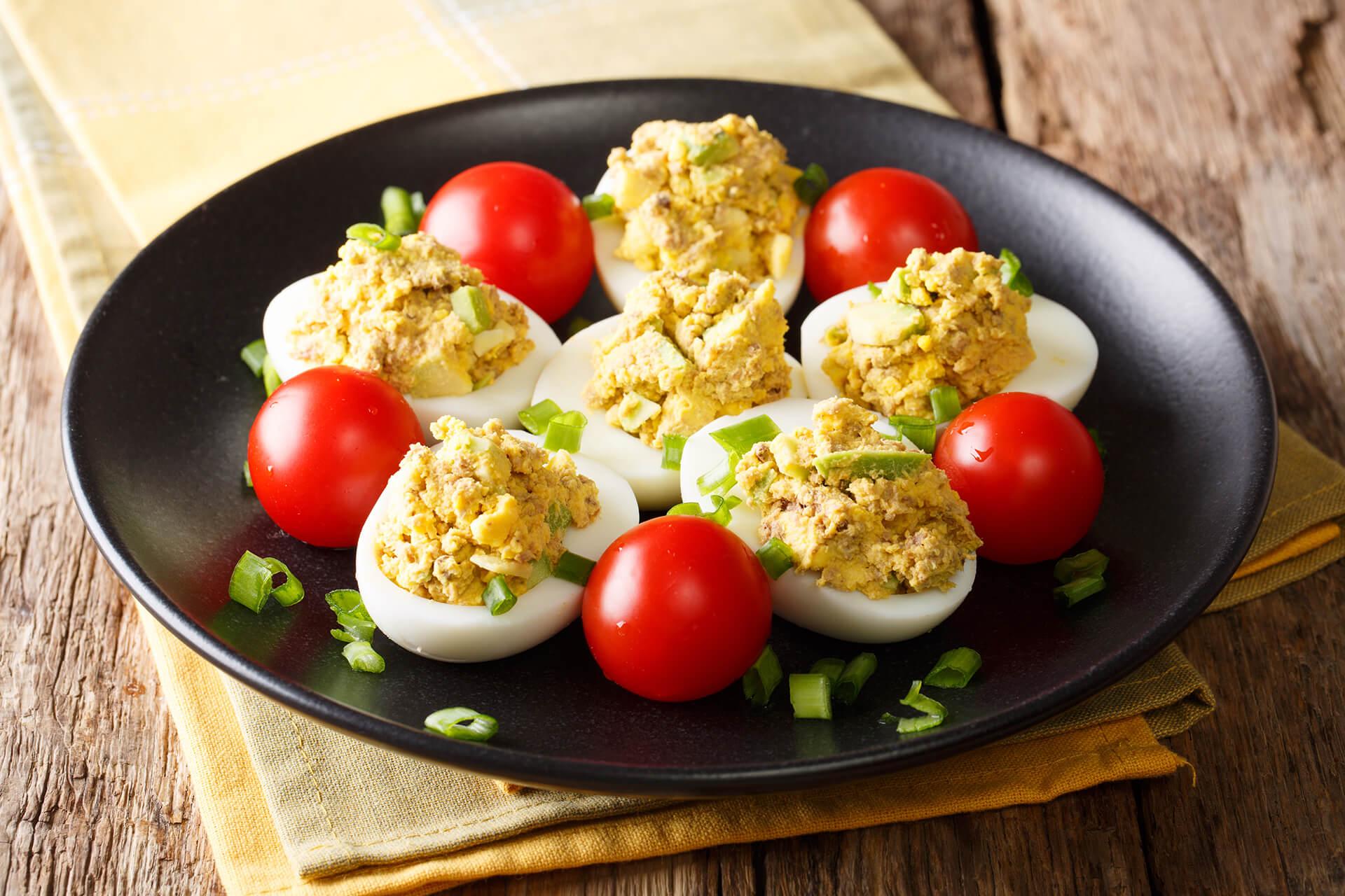 Faszerowane jajka na wielkanoc