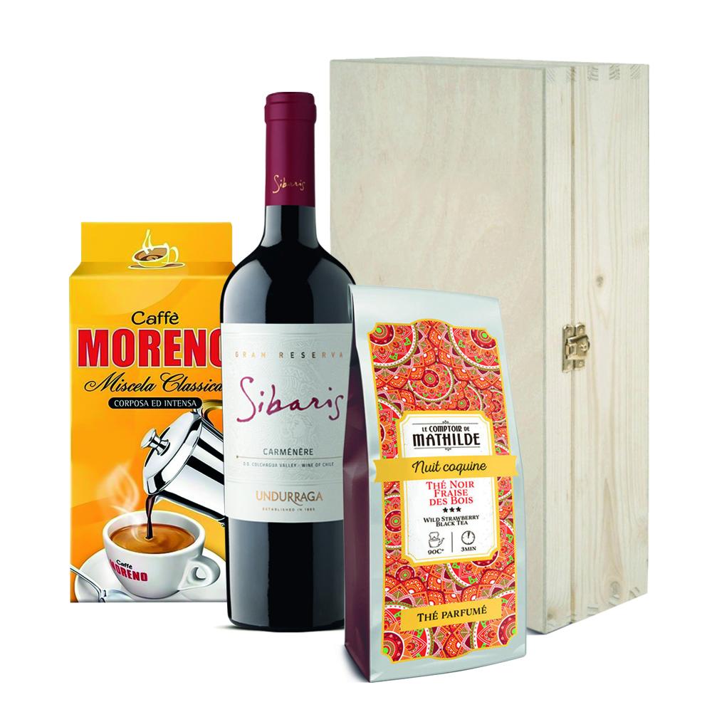 Zestaw świąteczny - wino, kawa, herbata