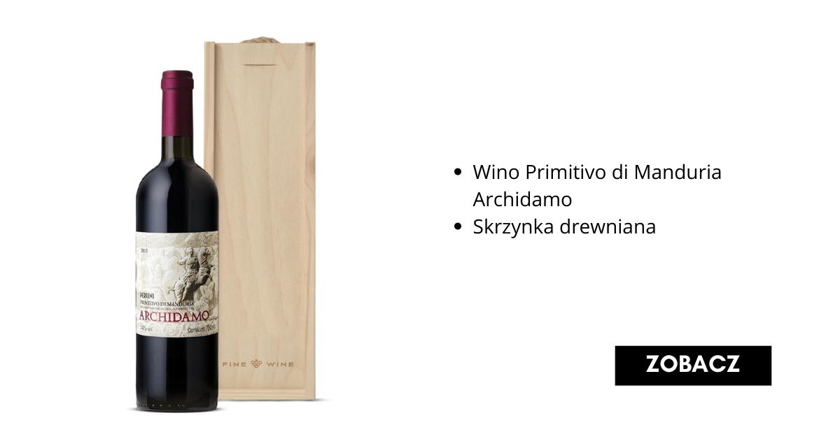 Świąteczny Zestaw Prezentowy z winem primitivo - Fine Wine