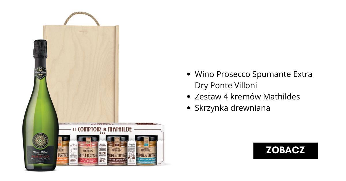 Świąteczny Zestaw Prezentowy z winem prosecco - Fine Wine